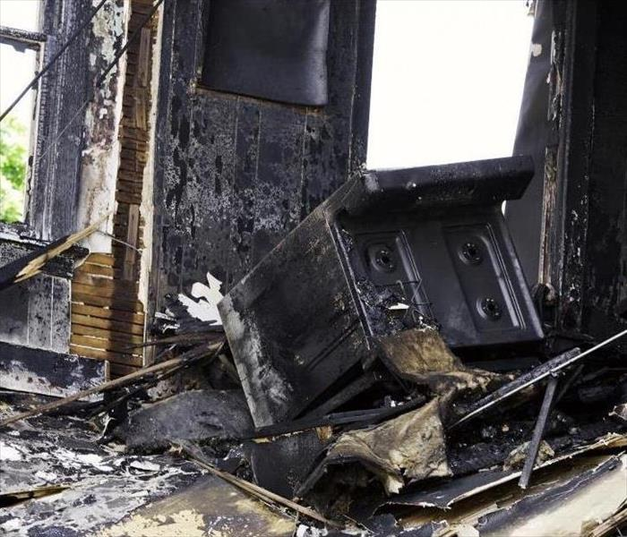after-effects of a kitchen fire in a home